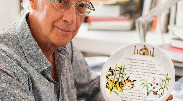 Poet Roger McGough who has created teatime tales for children which have been printed on a quarter of a million plates (Birds Eye/PA)