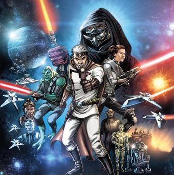 A comic book cover image provided by Dark Horse Comics shows characters in The Star Wars (AP/Dark Horse Comics)