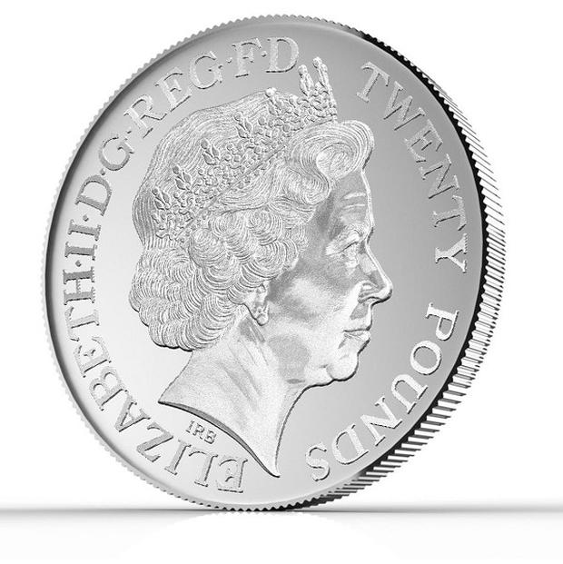 The first ever 20 pound coin has been announced by the Royal Mint (Hope and Glory PR/PA)