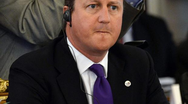 David Cameron got to test his driving skills for the first time since 2010 (AP)