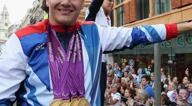 David Weir won four gold medals at the London 2012 Paralympics