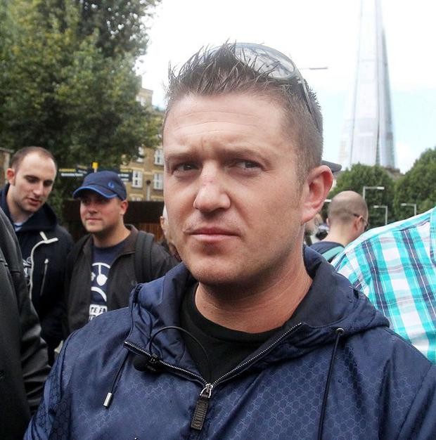 Co-founder of the far-right English Defence League (EDL) Tommy Robinson