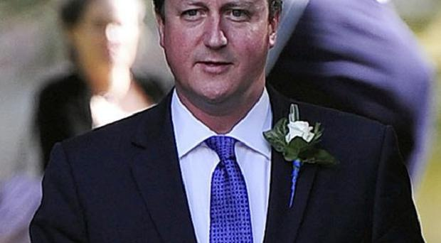 David Cameron was travelling to York to attend his sister-in-law's wedding