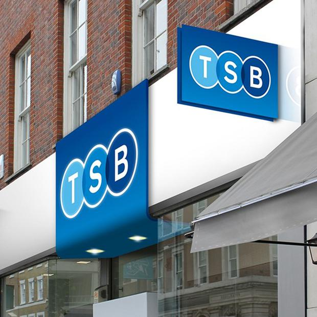 TSB's logo will replace the Lloyds black horse emblem as well as the Cheltenham and Gloucester brand at 631 branches (TSB/PA)