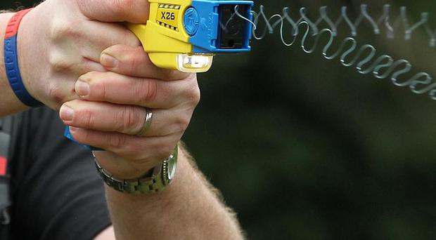 Police used a stun gun in a hospital emergency ward yesterday after they were called to deal with a woman in distress, the Belfast Telegraph can reveal