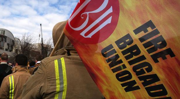 The Fire Brigades Union said government leaders in England and Wales had failed to reach a compromise to prevent strikes