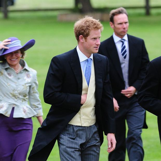 Prince Harry attended the wedding of James Meade and Lady Laura Marsham alongside his brother