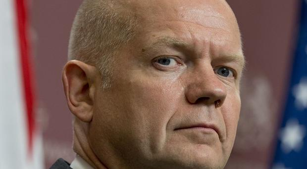 Foreign Secretary William Hague insisted British troops will not be sent to Syria