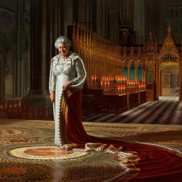 The Coronation Theatre, Westminster Abbey: A Portrait of Her Majesty Queen Elizabeth II, 2012, by Ralph Heimans (Ralph Heimans/Colin White/Max C/PA)