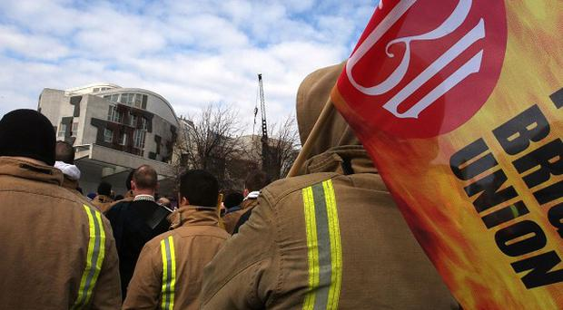 Fire Brigades Union general secretary Matt Wrack said the initial strike 'is a warning shot to Government'