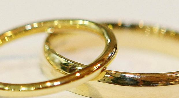 A man cut off his testicles before going into the church where a wedding was due to take place