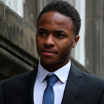 Liverpool and England footballer Raheem Sterling arrives at Liverpool Magistrates' Court