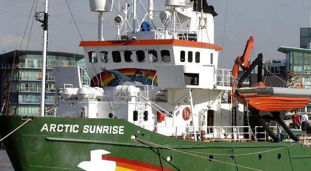 Greenpeace has rejected Russian allegations the Arctic Sunrise, seen here in London, was involved in piracy while on its protest mission in the Arctic