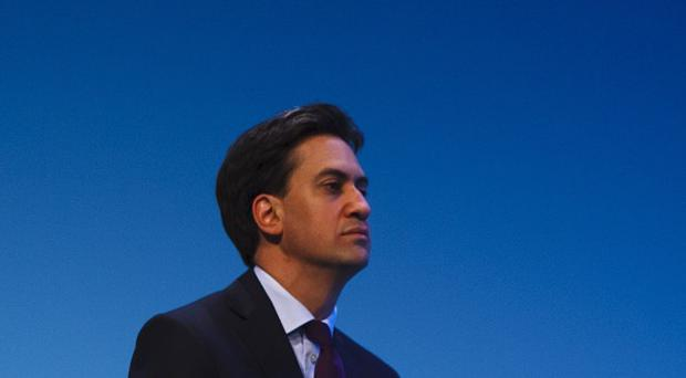 Labour leader Ed Miliband speaks during the first day of Labour's annual party conference in Brighton