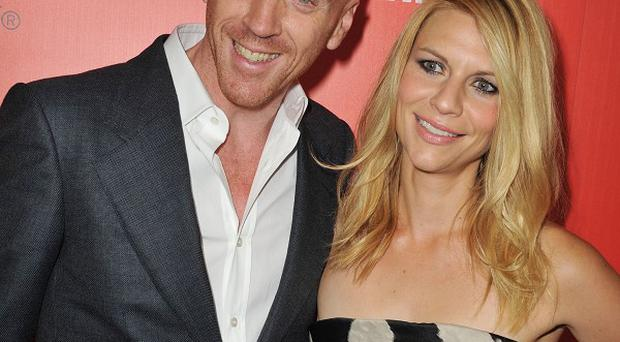 Damian Lewis missed out on the best lead actor in a drama category Emmy for Homeland, which also stars Claire Danes (AP)