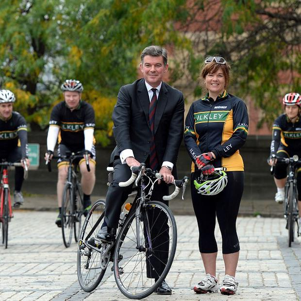 Minister for Sport Hugh Robertson during a photocall at the Town Hall, Leeds