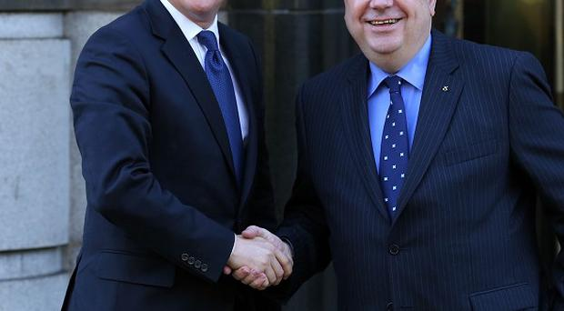 David Cameron, left, has told Scottish First Minister Alex Salmond, right, he is not the right person for a head-to-head debate on Scottish independence