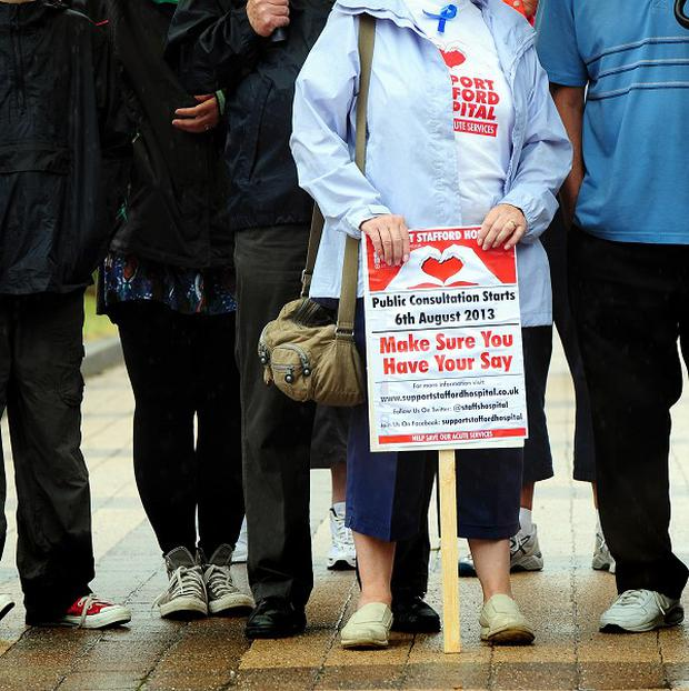 Protesters are set to march against Stafford Hospital changes