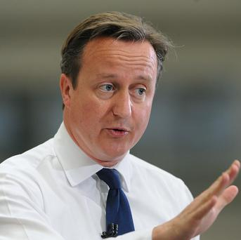 David Cameron said it was not right that young people with decent jobs but without