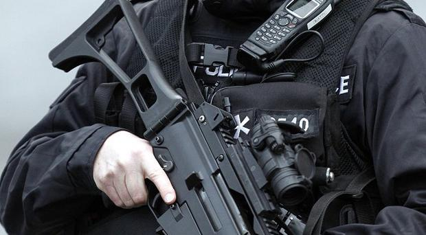 Armed police were called to an incident at a property in Dumfries