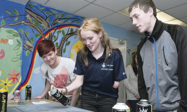 Paralympian Sally Brown inspires the next generation at National Lottery funded YouthAction