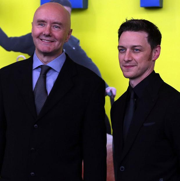 Author Irvine Welsh (left) said actor James McAvoy would play Jimmy Savile if Welsh ever wrote a script about the sex predator