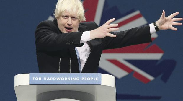 Mayor of London Boris Johnson takes centre stage at the Conservative Party conference
