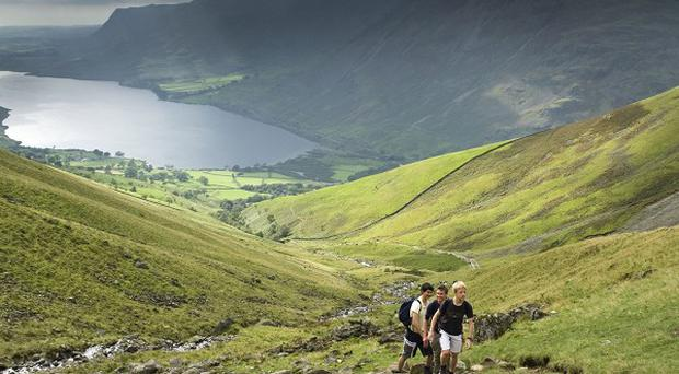 Funding raised by the National Trust will prevent footpath erosion and protect surrounding wildlife from harm in the Lake District fells, the charity said (National Trust/PA)