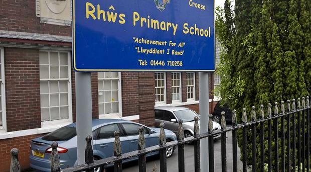 Karin Williams suffered serious injuries after diving into the path of an out-of-control car to save the lives of children outside Rhoose Primary School