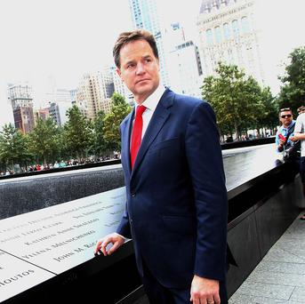 Deputy Prime Minister Nick Clegg has warned of the dangers of the UK 'stumbling out of' the EU