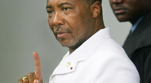 Former Liberian president Charles Taylor will serve his 50-year sentence for crimes against humanity in the UK (AP)
