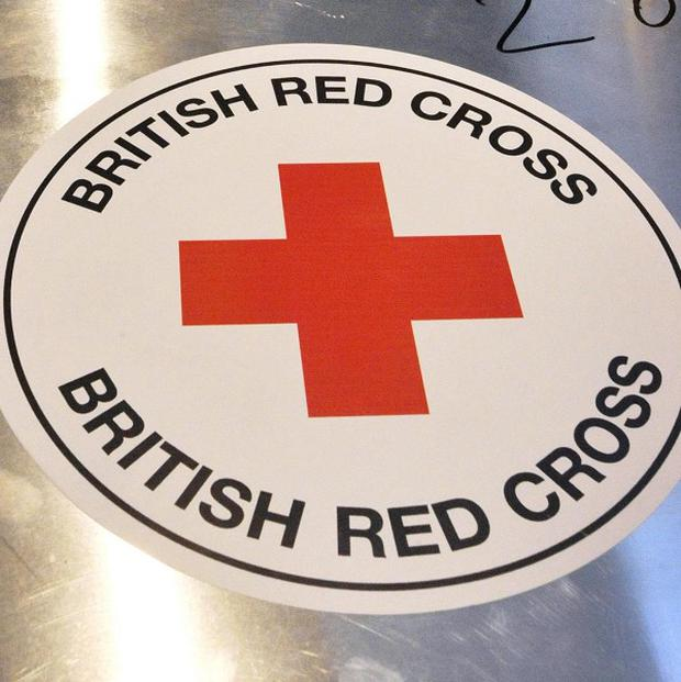 The British Red Cross is launching a campaign in supermarket foyers asking shoppers to donate food