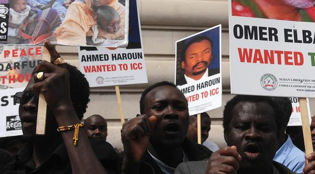 Protests were held after hundreds of thousands of people were killed in Darfur