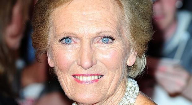 Mary Berry said she had only taken up cookery after being considered
