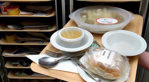 Hospitals spend as little as £4.15 a day feeding patients, figures show.