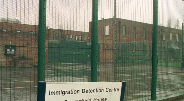 Ten fire engines were called to the Campsfield House immigration removal centre in Kidlington