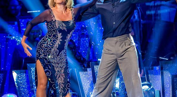 Fiona Fullerton and Anton DuBeke perform during rehearsals for Strictly Come Dancing (BBC/PA)