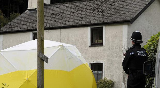 The former home of Mark Bridger, who was found guilty of abducting and murdering schoolgirl April Jones