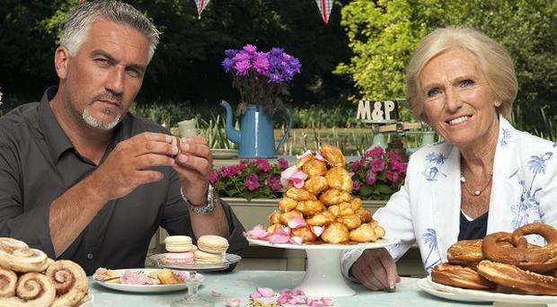 Paul Hollywood and Mary Berry are the judges on The Great British Bake Off