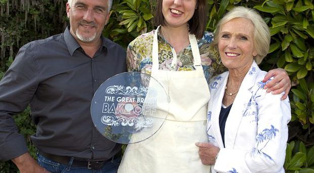 The Great British Bake Off Winner Frances Quinn with Paul Hollywood and Mary Berry