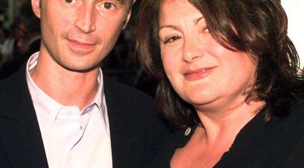 Director Antonia Bird with actor Robert Carlyle at the premiere of Ravenous.