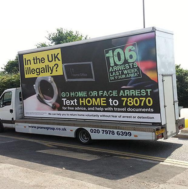 Controversial Government adverts urged illegal immigrants to 'go home'