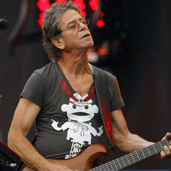Lou Reed performs at the Lollapalooza music festival in Chicago.