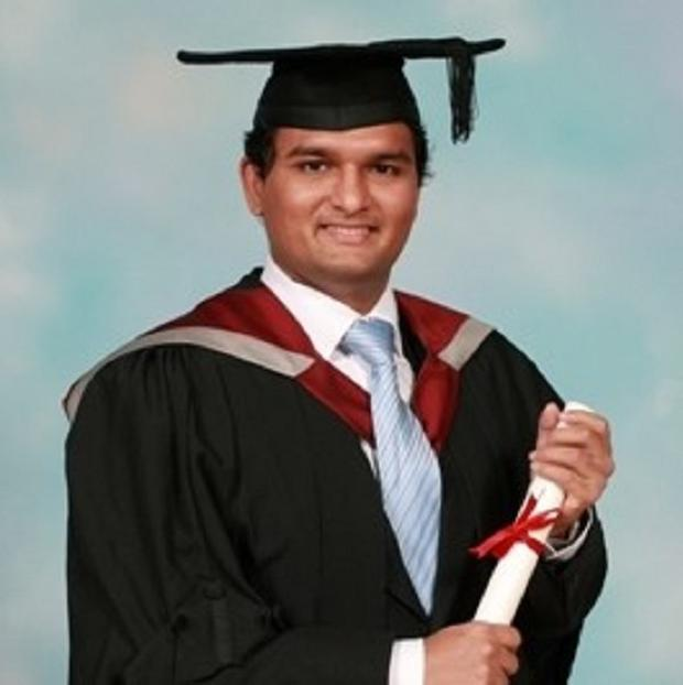Thavisha Lakindu Peiris was stabbed to death as he made his final pizza delivery before starting a career as an IT consultant (South Yorkshire Police/PA)