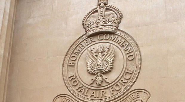 Bomber Command memorial in Green Park, London, which was daubed with graffiti by Daniel Smith