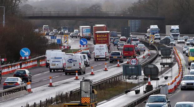 A section of the M25 has had to be closed for the second time in three days