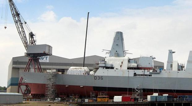 Govan shipyard in Glasgow is one of three major BAE bases in the UK
