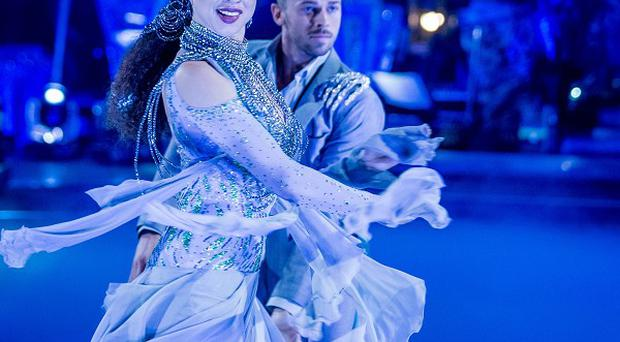 Artem Chigvinstev and Natalie Gumede scored 38 - including the first 10 pointers of the year - on Strictly Come Dancing.