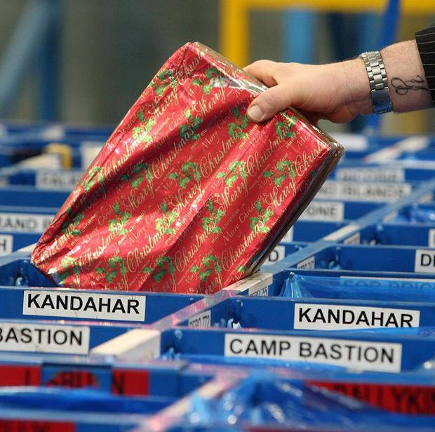 The MoD has urged the public not to send Christmas presents to troops serving in Afghanistan