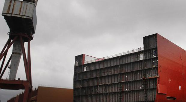 BAE Systems' Govan shipyard in Glasgow may be cutting hundreds of people's jobs